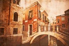 葡萄酒威尼斯的样式照片 图库摄影