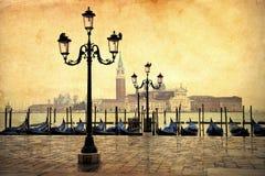 葡萄酒威尼斯的样式照片 免版税库存图片