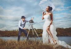 葡萄酒婚礼 图库摄影