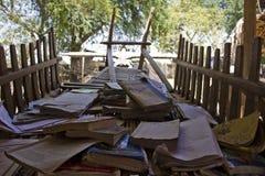 葡萄酒学校在Bagan附近的一个小的村庄,在缅甸 免版税库存图片