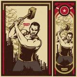 葡萄酒宣传海报 库存照片