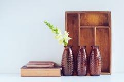 葡萄酒家庭装饰 免版税库存照片