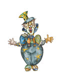 葡萄酒小丑 免版税库存照片