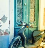 葡萄酒小型摩托车 库存图片