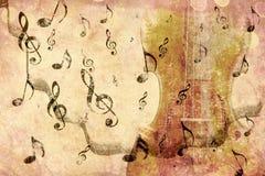 葡萄酒小提琴背景 库存照片