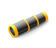 葡萄酒小望远镜,黑白颜色,在白色隔绝的特写镜头 库存图片