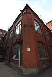葡萄酒工业红砖大厦在老欧洲城市的工业区 免版税库存图片