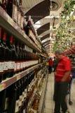 葡萄酒市场 库存照片