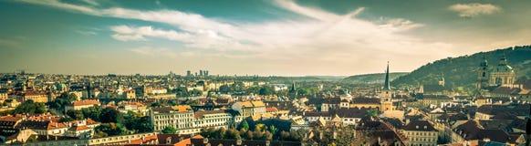 葡萄酒布拉格-概要 免版税库存照片