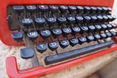葡萄酒希伯来人打字机 库存照片