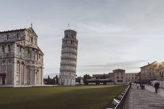 葡萄酒广场dei miracoli视图 免版税图库摄影