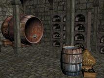 葡萄酒库。   皇族释放例证