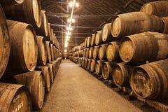 葡萄酒库,波尔图 库存照片