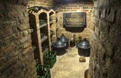 葡萄酒库Valtice,摩拉维亚,捷克 库存照片
