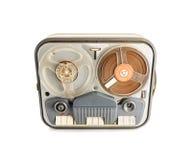 葡萄酒开盘式的录音机 免版税库存照片