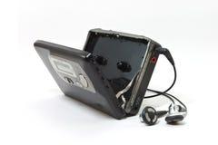 葡萄酒录声磁带随身听录音机 免版税库存图片