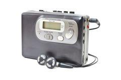 葡萄酒录声磁带随身听录音机 免版税库存照片