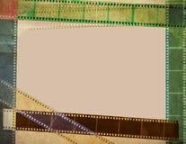 葡萄酒影片有卷轴五颜六色的背景 免版税库存照片