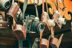 葡萄酒影片照相机 库存照片
