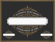 葡萄酒徽章和标签名牌,横幅的,邀请,商标,象征,食物菜单,贴纸,居住区,权威设计   皇族释放例证