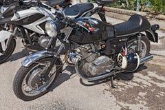 葡萄酒意大利摩托车Laverda 750个SF 库存照片