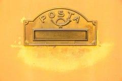 葡萄酒意大利语Letterbox 库存照片