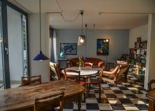 葡萄酒房子内部在琉森,瑞士 免版税图库摄影