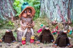 葡萄酒手工制造木玩具 免版税库存图片