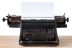 葡萄酒打字机、新闻事业和文字概念 库存照片