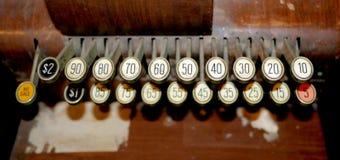 葡萄酒打字机按钮 免版税库存照片
