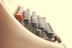 葡萄酒打字机的钥匙的细节 库存照片