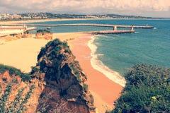 葡萄酒拉各斯海滩 免版税库存图片