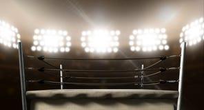 葡萄酒拳击台在竞技场 免版税库存照片