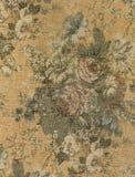 葡萄酒挂毯花卉织品 免版税库存照片