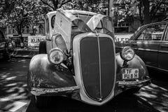 葡萄酒提取福特V-8模型85日1938年 免版税库存照片