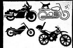 葡萄酒摩托车例证 向量例证