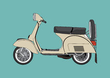 葡萄酒摩托车例证 库存照片