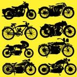 葡萄酒摩托车摩托车传染媒介 免版税库存图片