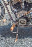 葡萄酒摩托车在kickstand 免版税库存照片