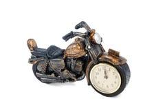 葡萄酒摩托车小雕象 图库摄影