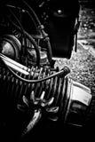 葡萄酒摩托车引擎细节 库存图片