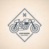 葡萄酒摩托车标签 免版税库存照片