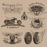 葡萄酒摩托车标签 免版税库存图片