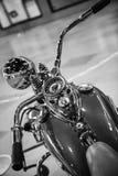葡萄酒摩托车的上部看法 免版税库存照片