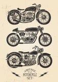 葡萄酒摩托车集合 库存例证