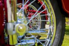 葡萄酒摩托车细节 库存图片