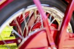 葡萄酒摩托车细节 免版税库存照片