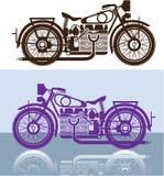 葡萄酒摩托车 免版税库存照片
