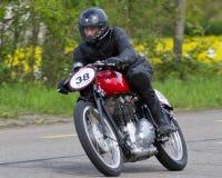 葡萄酒摩托车Gilera 免版税库存图片