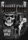 葡萄酒摩托车skull2 库存图片